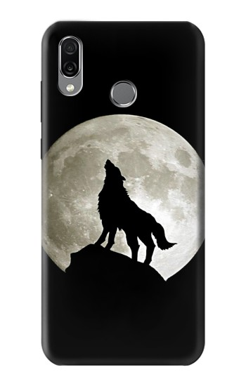 Printed Wolf Howling at The Moon Huawei Honor Play Case