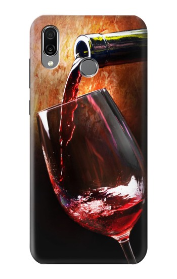 Printed Red Wine Bottle And Glass Huawei Honor Play Case