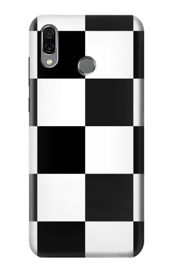 Printed Black and White Checkerboard Huawei Honor Play Case