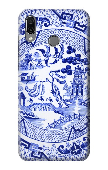 Printed Willow Pattern Illustration Huawei Honor Play Case