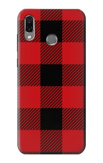 Printed Red Buffalo Check Pattern Huawei Honor Play Case