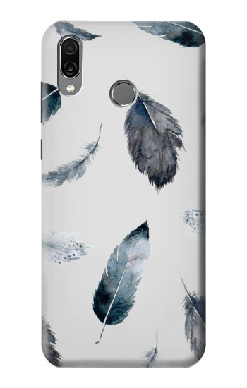Printed Feather Paint Pattern Huawei Honor Play Case