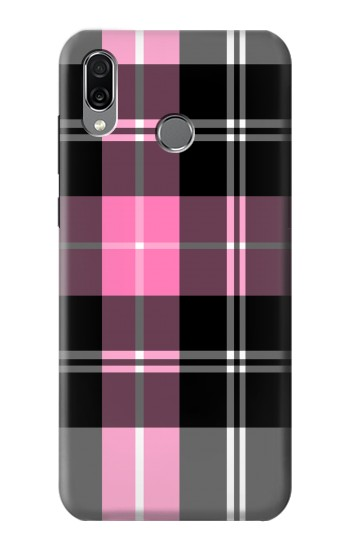 Printed Pink Plaid Pattern Huawei Honor Play Case