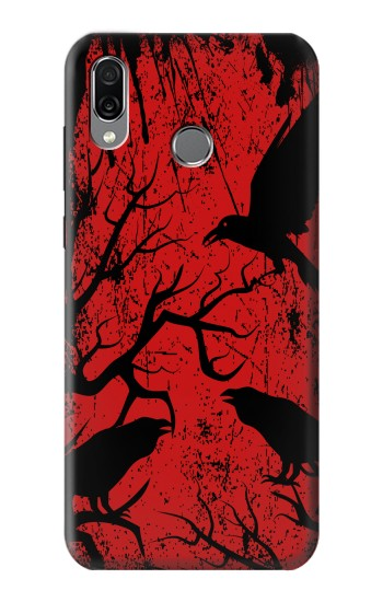 Printed Crow Black Tree Huawei Honor Play Case