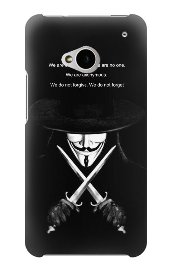 Printed V Mask Guy Fawkes Anonymous HTC One M7 Case