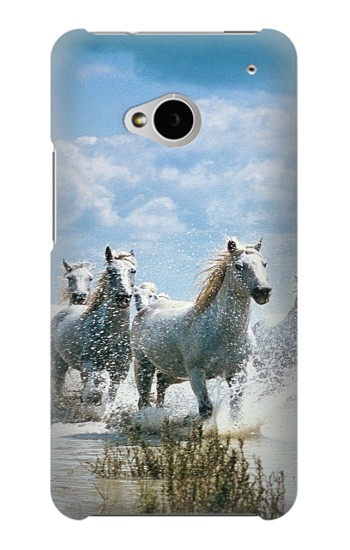 Printed White Horse 2 HTC One M7 Case