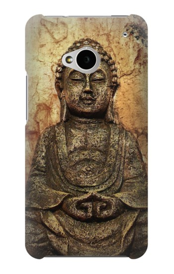 Printed Buddha Rock Carving HTC One M7 Case