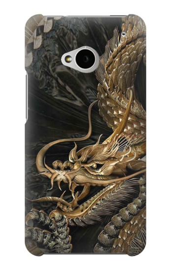 Printed Gold Dragon HTC One M7 Case