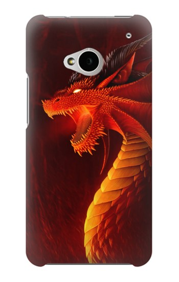 Printed Red Dragon HTC One M7 Case