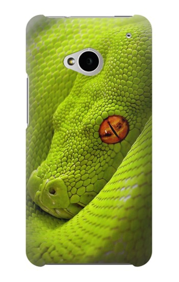 Printed Green Snake HTC One M7 Case
