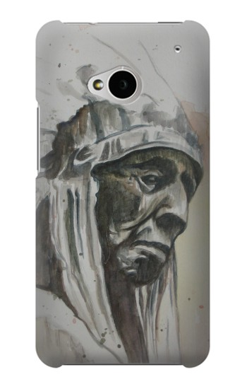 Printed Indian Chief HTC One M7 Case