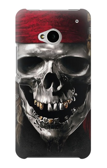 Printed Pirate Skull HTC One M7 Case