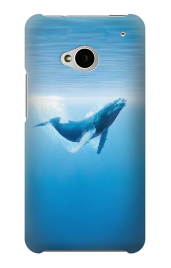 Printed Blue Whale HTC One M7 Case