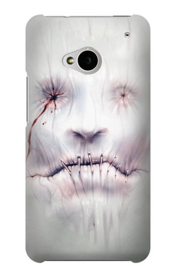 Printed Horror Face HTC One M7 Case