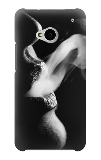Printed Sexy Lip Girl Smoking HTC One M7 Case