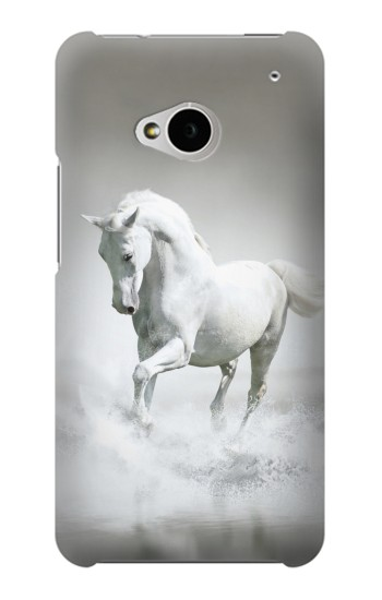Printed White Horse HTC One M7 Case