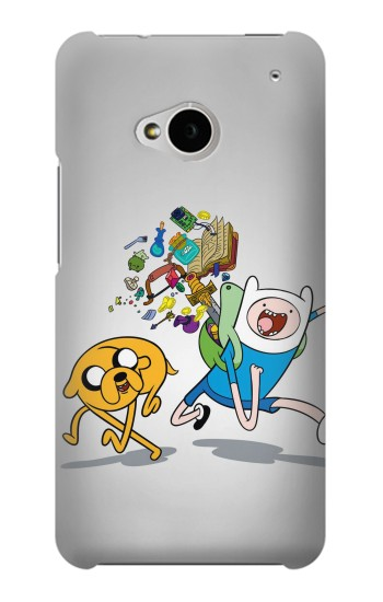 Printed Adventure Time Fin Jeck HTC One M7 Case