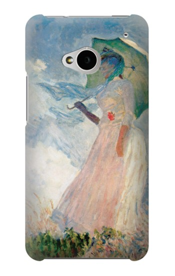 Printed Claude Monet Woman with a Parasol HTC One M7 Case