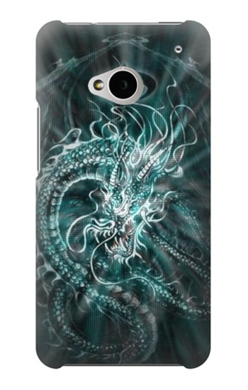 Printed Digital Chinese Dragon HTC One M7 Case