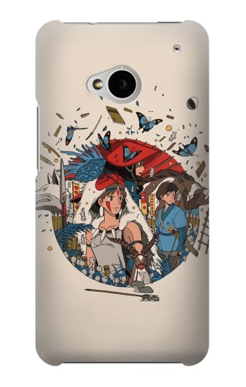 Printed Princess Mononoke HTC One M7 Case