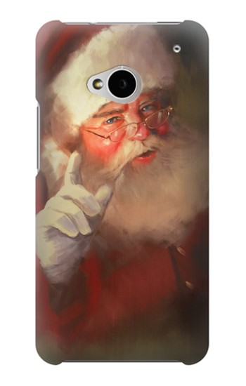 Printed Xmas Santa Claus HTC One M7 Case
