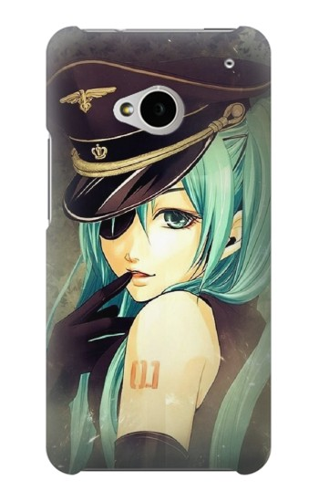 Printed Vocaloid Sexy Hatsune Miku Police HTC One M7 Case