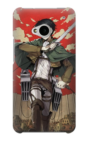 Printed Attack on Titan Rivaille Levi HTC One M7 Case