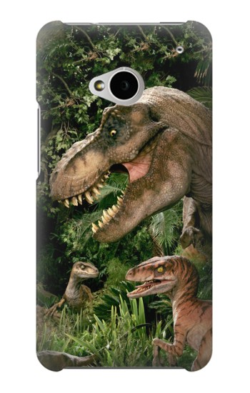 Printed Trex Raptor Dinosaur HTC One M7 Case
