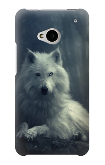 Printed White Wolf HTC One M7 Case