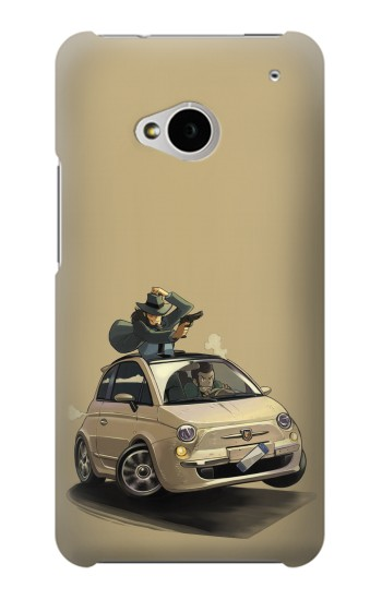 Printed Lupin The Third HTC One M7 Case