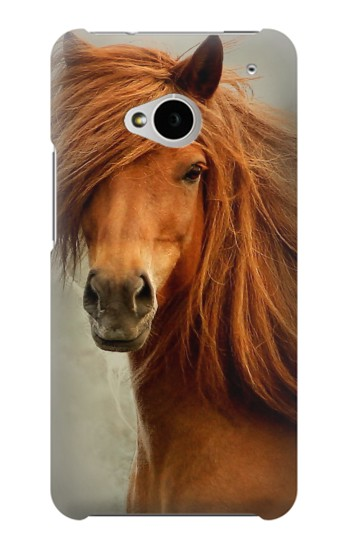 Printed Beautiful Brown Horse HTC One M7 Case