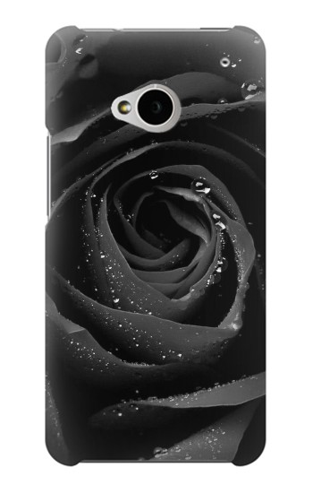 Printed Black Rose HTC One M7 Case