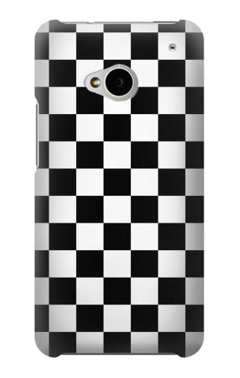 Printed Checkerboard Chess Board HTC One M7 Case