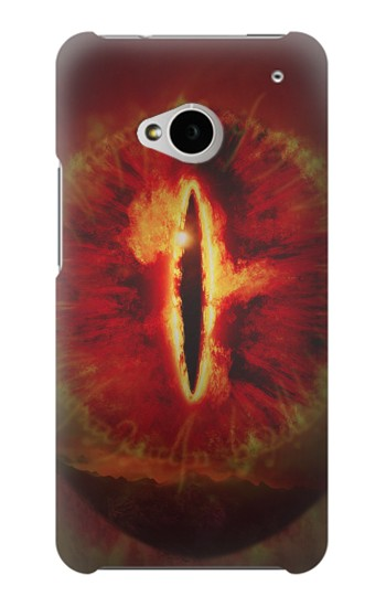 Printed Eye of Sauron Lord of The Rings HTC One M7 Case