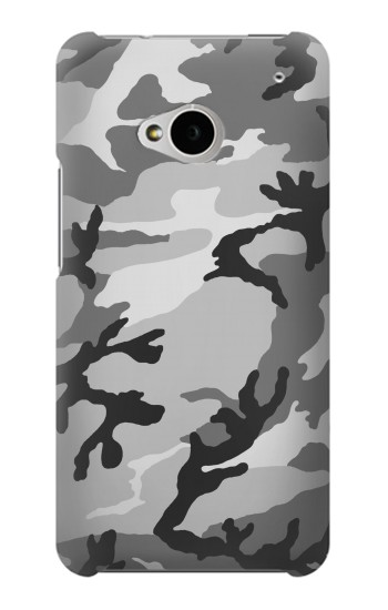 Printed Snow Camo Camouflage Graphic Printed HTC One M7 Case