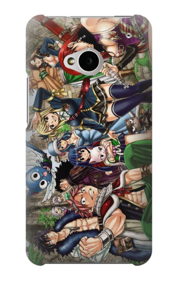 Printed Fairy Tail Guild Members HTC One M7 Case