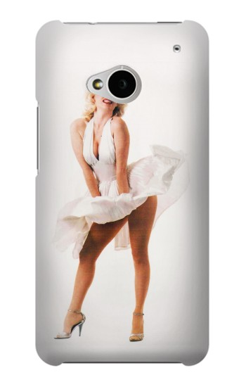 Printed Marilyn Monroe Dress Blowing HTC One M7 Case