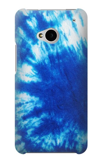 Printed Tie Dye Blue HTC One M7 Case