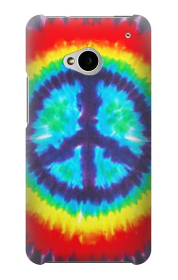 Printed Tie Dye Peace HTC One M7 Case