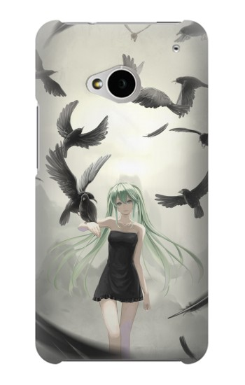 Printed Vocaloid Hatsune Miku Black HTC One M7 Case
