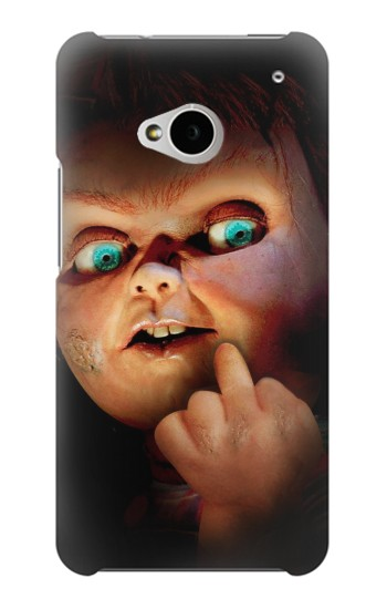 Printed Chucky Middle Finger HTC One M7 Case