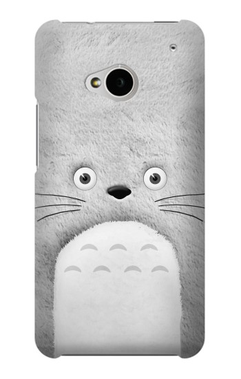 Printed My Neighbor Totoro Grey Minimalist HTC One M7 Case