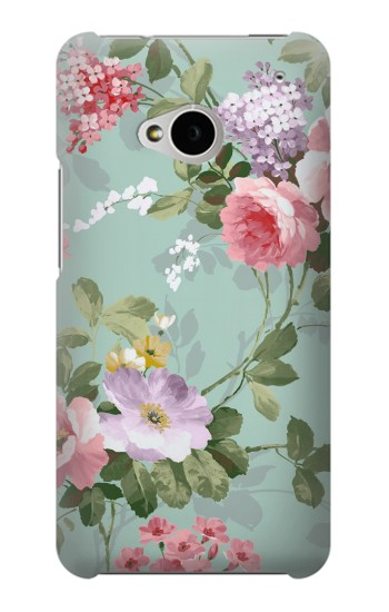 Printed Flower Floral Art Painting HTC One M7 Case