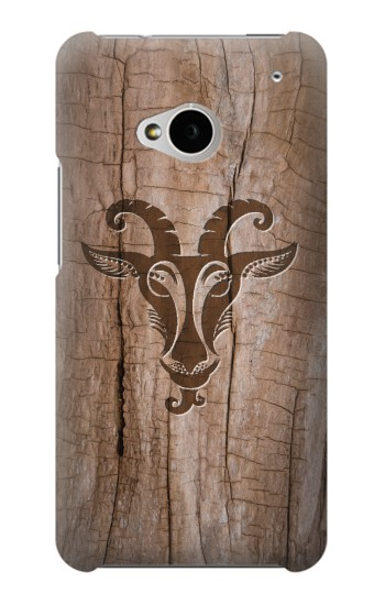 Printed Goat Wood Graphic Printed HTC One M7 Case