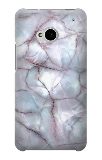 Printed Dark Blue Marble Texture Graphic Print HTC One M7 Case