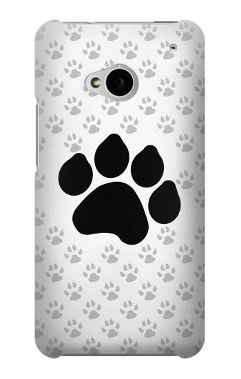 Printed Paw Foot Print HTC One M7 Case