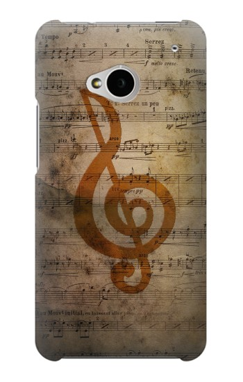 Printed Sheet Music Notes HTC One M7 Case