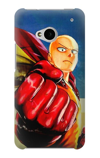 Printed Saitama One Punch Man HTC One M7 Case