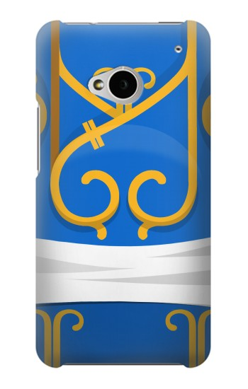 Printed Chun Li Blue Dress HTC One M7 Case