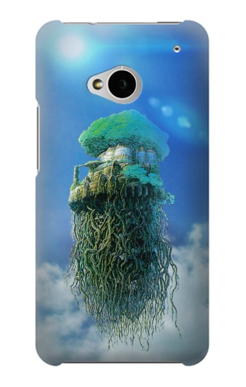 Printed Castle in the Sky HTC One M7 Case